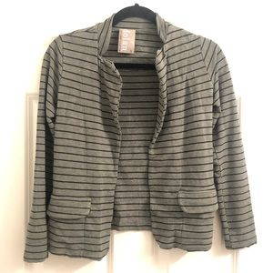 Anthropologie grey/black striped blazer, S